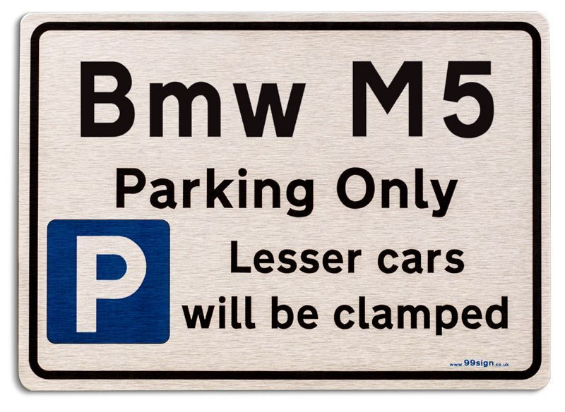 Bmw M Car Owners Gift New Parking Only Sign Metal Face Brushed - Bmw parking only signs