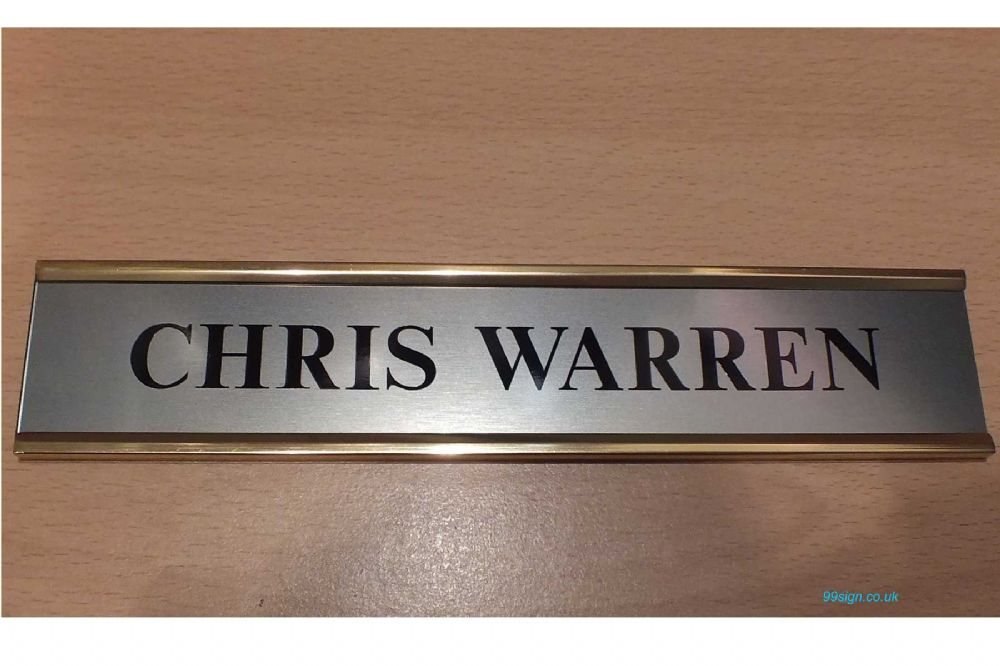 Door nameplate made to order brushed stainless steel for Door name plates