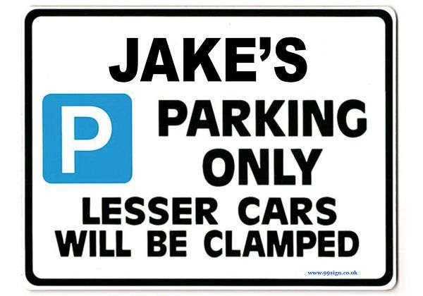 Jake S Personalised Gift Unique Present For Him Parking