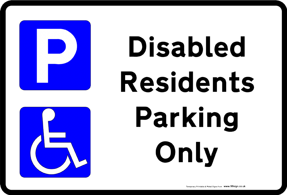 handicap parking sign template - printable disabled parking sign free template for