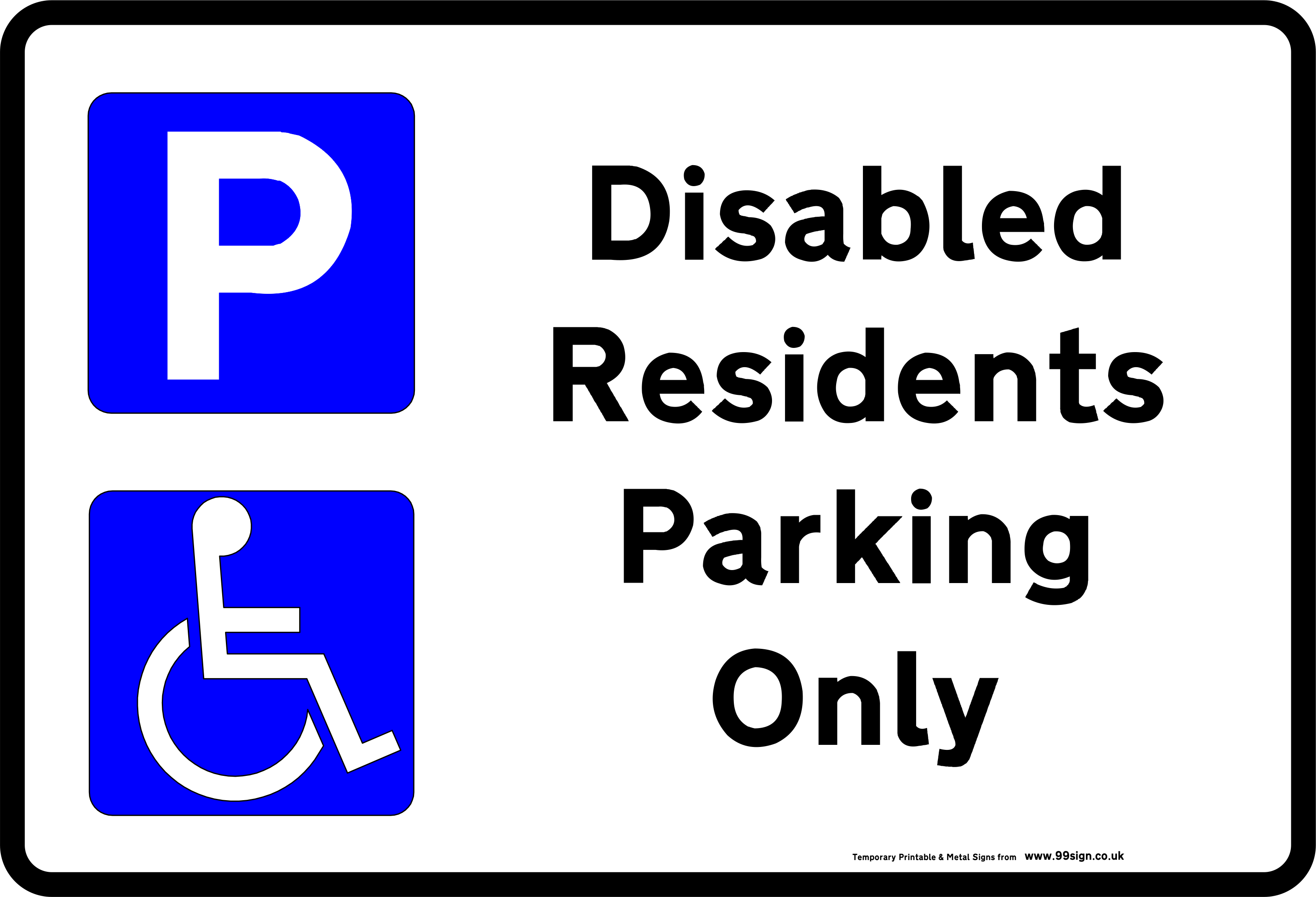free sign templates - printable disabled parking sign free template for