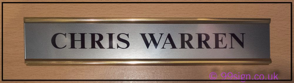 Office door sign room name plate on brass effect or for Door name signs