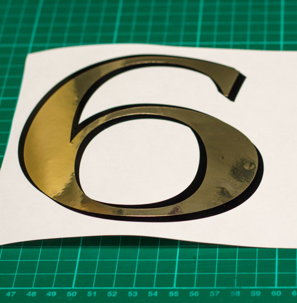 Fanlight transom window house number period gold leaf style any number letter custom