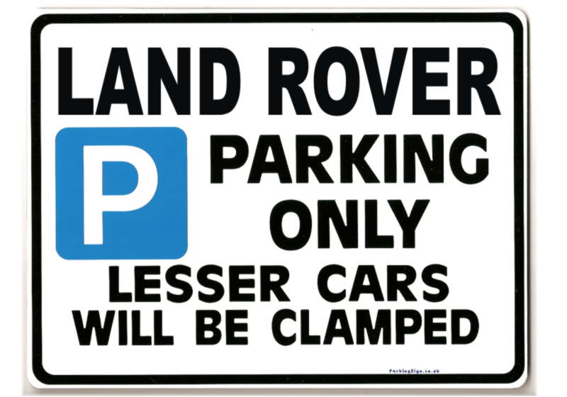 Land Rover Car Parking Sign Gift For Discovery Tdi 110