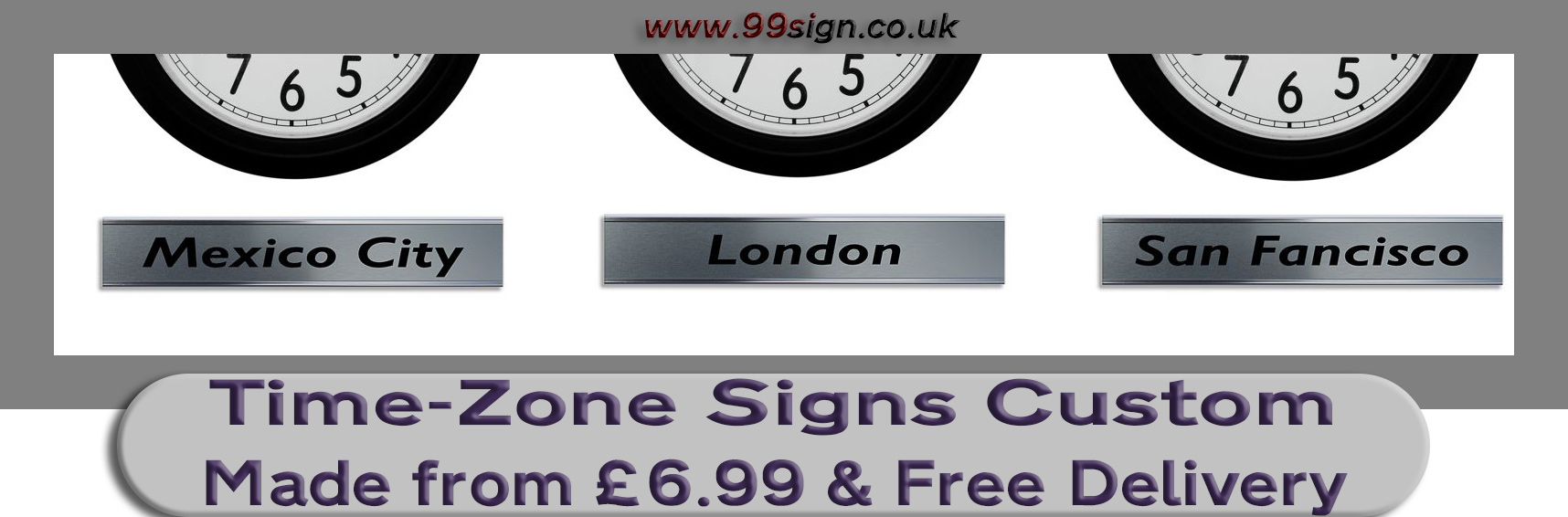 world time zone clock city signs london nameplate sign custom made plaque